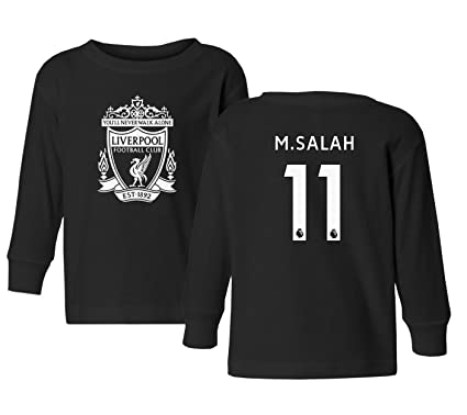 Tcamp Liverpool  11 Mohamed SALAH Premier League Little Kids Girls Boys  Toddler Long Sleeve T f11a7a95c