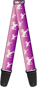 Buckle-Down Guitar Strap Unicorn Sparkles Purple Pink 2 Inches Wide