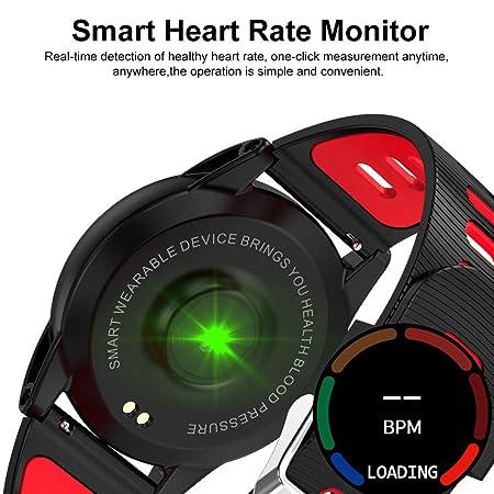 Amazon.com: 1.3 Large OLED Screen Smart Watch Health Fitness Tracker Heart Rate Monitor Sports Smart Wristband Pedometer Smart Bracelet Bluetooth ...