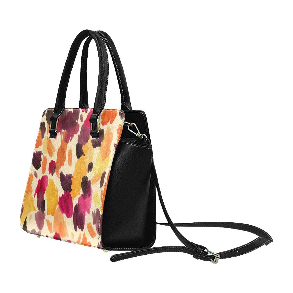 InterestPrint Womens Abstract Colorful Pattern Rivet Shoulder Handbag Shoulder Bags