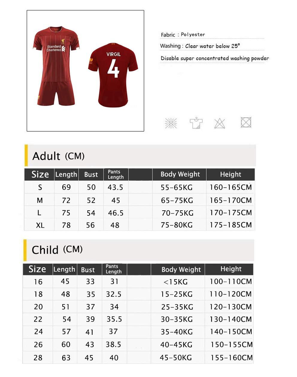 LLMM Maglia Maglia da Calcio Maglia Liverpool Football Club 4//9//10//11# Jersey Adulto Tuta da Bambino Manica Corta Pantaloncini Uniforme da Calcio,FIRMINO,16~ Child~100~110cm
