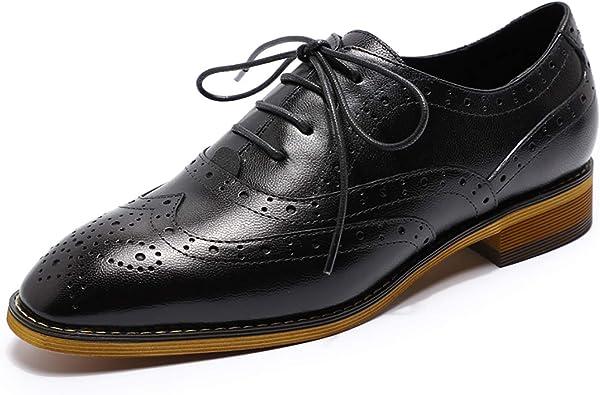 MIKCON Womens Leather Oxfords Stylish