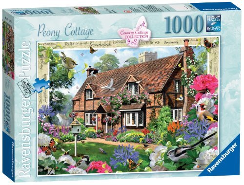 Ravensburger Country Cottage Collection No.8 - Peony Cottage, 1000pc Jigaw Puzzle by Ravensburger (Cottage Peony)