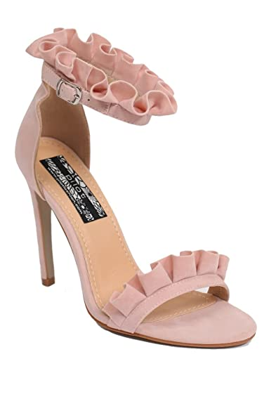 PILOT® Women s Frill Detail Strappy High Heel Sandals in Pale Pink ... 08c3220d0
