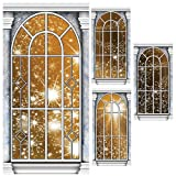 Gold Star Window Panel Standee Set