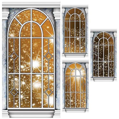 Gold Star Window Panel Standee Set