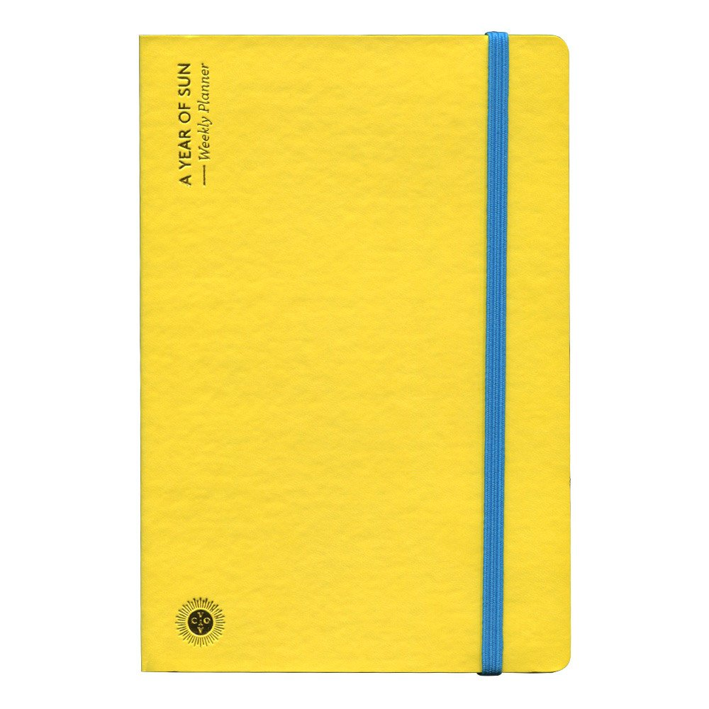 Octaevo A Year of Sun Weekly Planner - Yellow by Octaevo