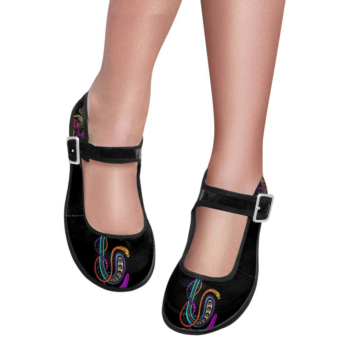 INTERESTPRINT Womens Comfy Mary Jane Flats Walking Casual Shoes Indian Elephant