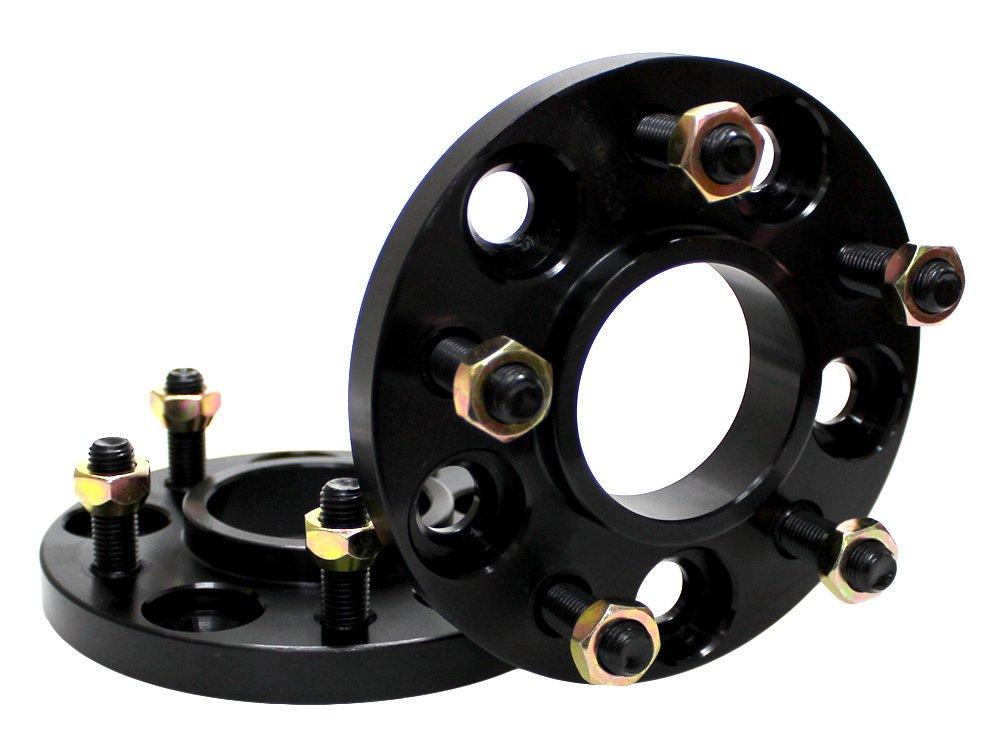 ハブ一体型 ワイドトレッドスペーサー 15mm PCD114.3 5H P1.5 【ブラック】 2枚組 B0194XOVAI