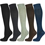 Mysocks Unisex Knee High Long Socks Plain