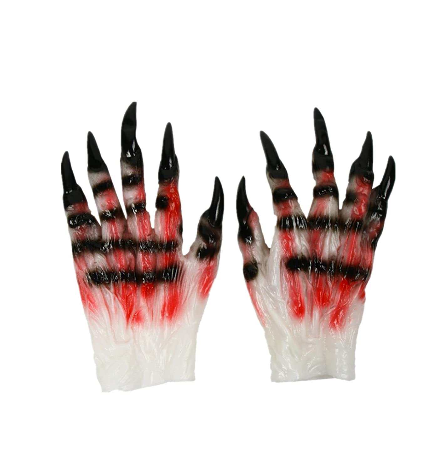 micrkrowen Halloween Decorative Pieces Cosplay Props Ghost Claw Gloves