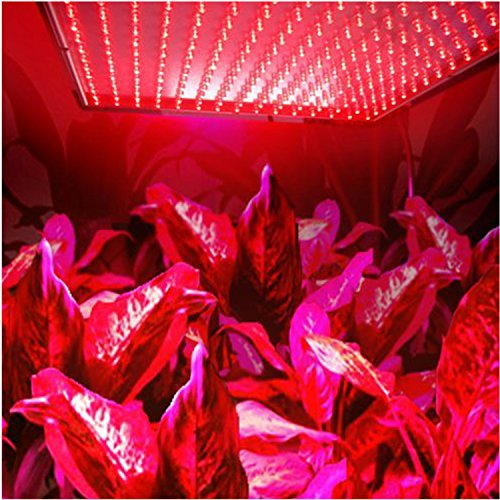 HQRP 225 Red LED Indoor Garden Hydroponic Plant Grow Light Panel 14W + Hanging Kit UV Meter