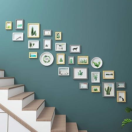 HY&PPJQ Escaleras Pared Foto, Pared de Marco de Foto Pared ...