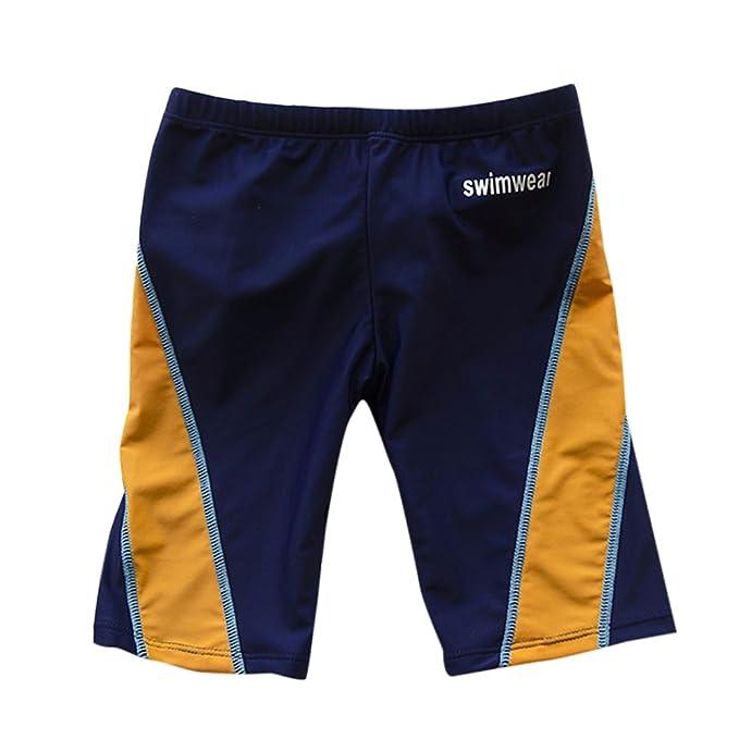 a8a00856cd2f Zhhlaixing Ragazzi Costume da bagno Atletico Baule da nuoto Protezione  solare Asciugatura veloce Calzoncino Swim Shorts