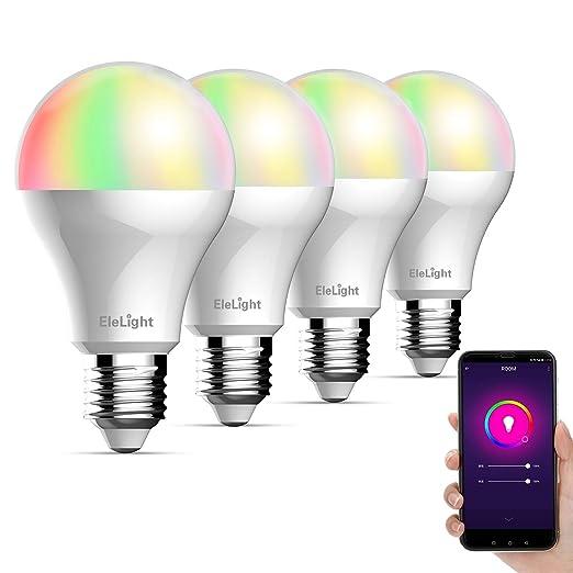 Bombillas inteligentes WIFI Bombillas LED de Luz Que Cambian Las Bombillas de Luces Nocturnas Regulables Para