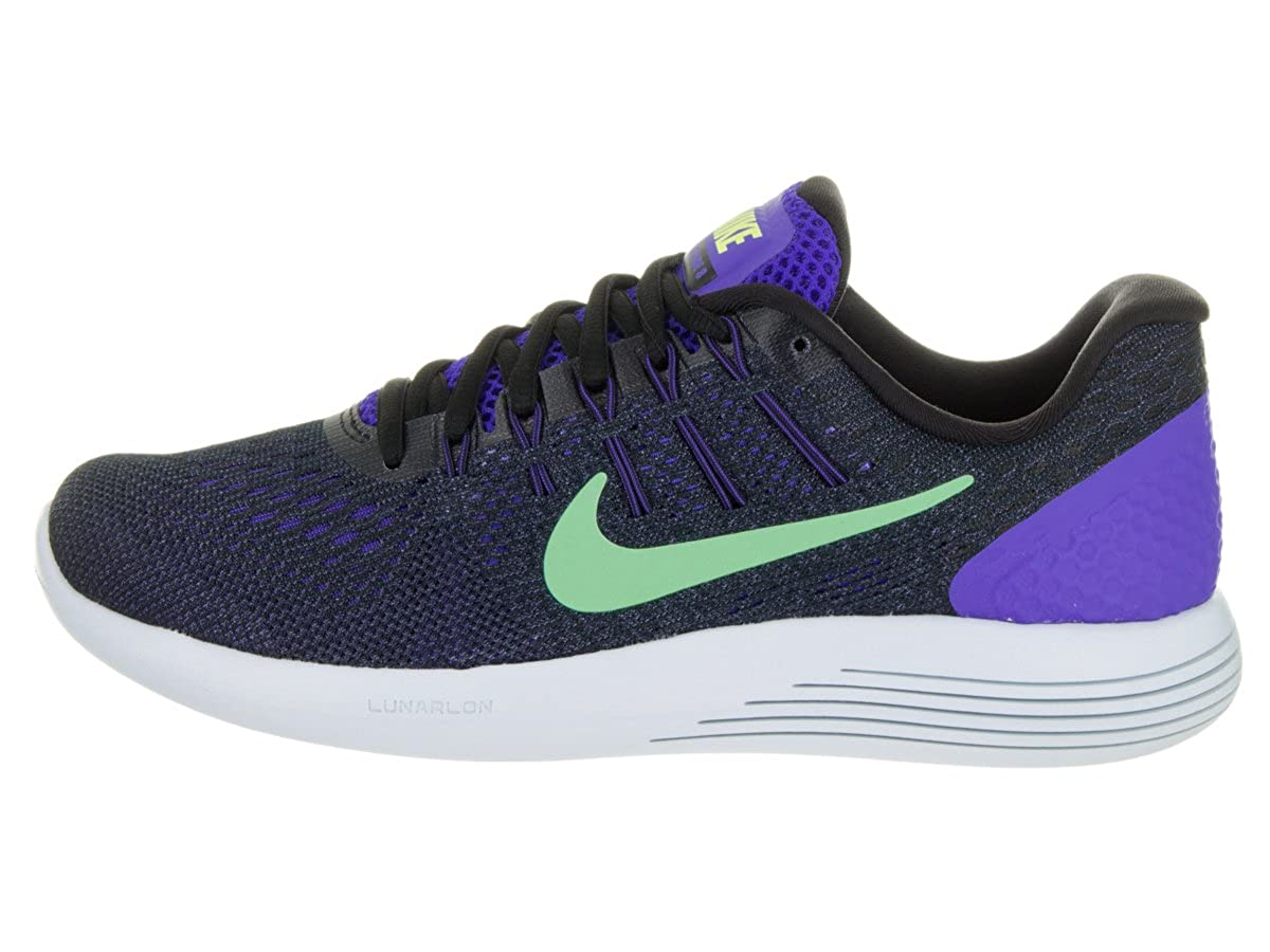 new product 538d1 4faa1 Nike Lunarglide 8 Persian Violet Black Purple Dust Green Glow Women s  Running Shoes  Amazon.in  Shoes   Handbags