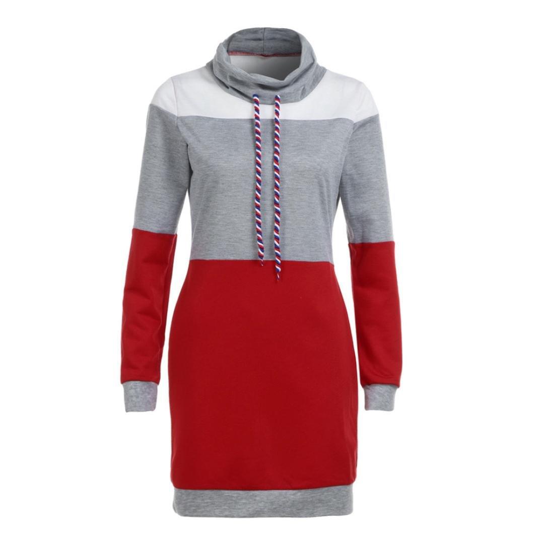 5e66517c4a Robes Clubbing Robe Sweat à Capuche Color Block,Overdose Manches Longues  Oversize Robe Sweat Longue Casual ...