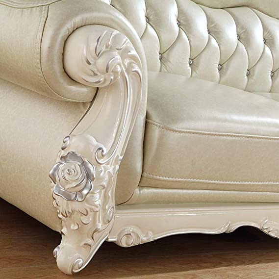 WSN Rinconera sofá,Seccional de Cuero de Microfibra con ...