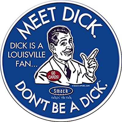 Smack Apparel Kentucky Basketball Fans. Don't Be A Dick. Embossed Metal Man Cave Sign