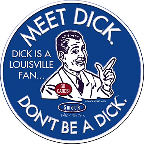Kentucky Basketball Fans. Don't Be A Dick. (Anti-Louisville) Embossed Metal Man Cave (Wildcats Metal Parking Sign)