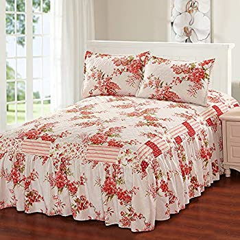 Amazon.com: Glory Home Design Khloe 3 Piece Bedspread Set ...
