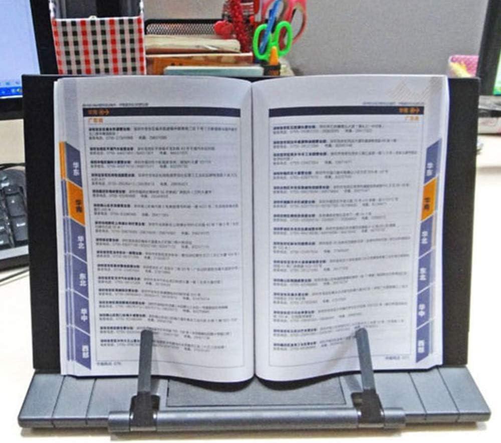 Multifunktional Buchstutze Tragbarer Verstellbarer Faltbarer Buchhalter mit 2 Seitenhaltern Lesedisplay-St/änder Perfekt f/ür Erwachsene Kinder B/ücher Schwarz None//Brand Mousyee Lesest/änder Metall