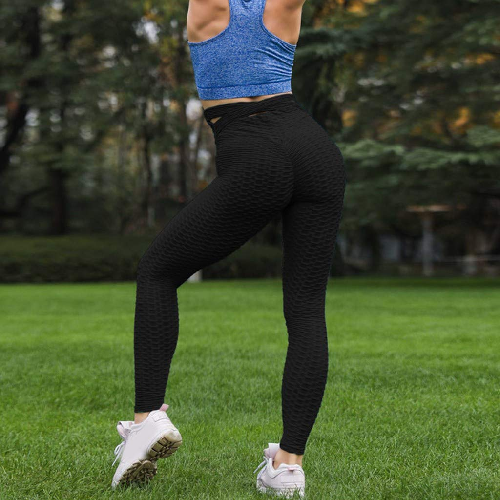 ZOMUSAR 2019 ❀ Women High Waist Yoga Fold Cross Strap Leggings Running Sports Pants Trouser