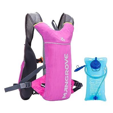 d83c54dd6b90 ランニングバッグ ハイドレーションバッグ 2L給水袋付き MANGROVE マラソンリュック 5L 超軽量 通気性