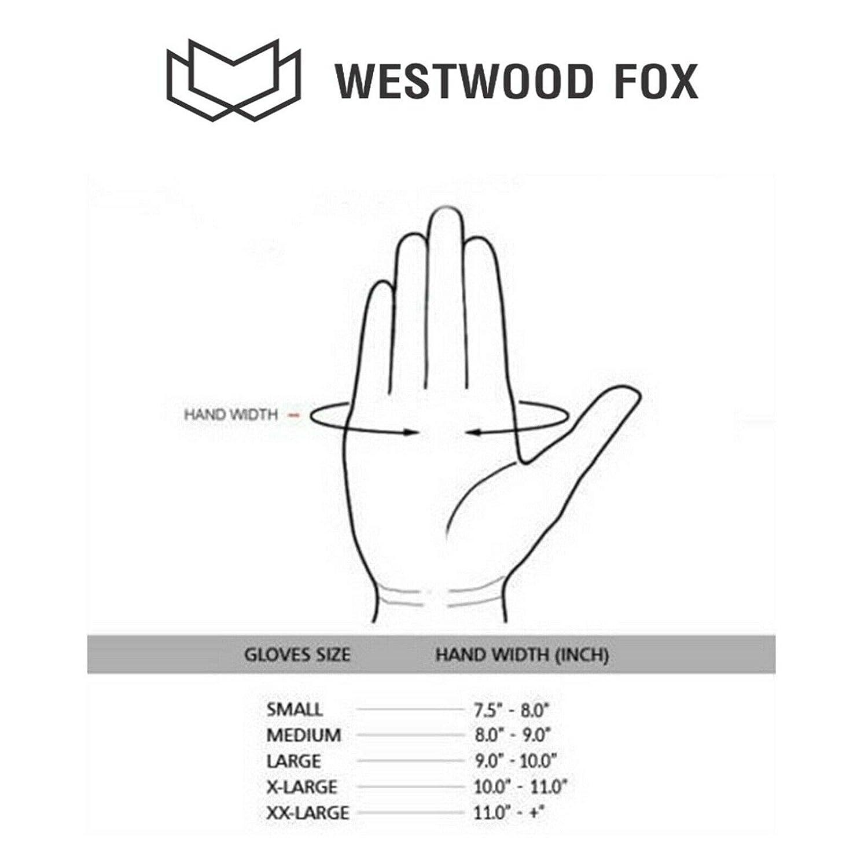 WESTWOOD FOX Pursuit Gants de moto en cuir a/ér/é pour protection des phalanges