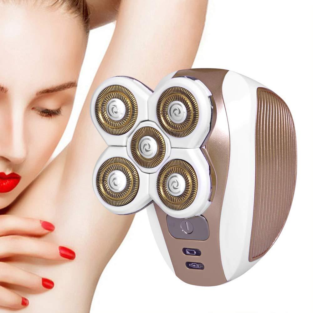 HUShjsd Facial Hair Remover,Portable Electric Razor,USB Rechargeable Cordless Waterproof,Waterproof Ladies Electric Shaver for Fuzz/Facial Hair/Lip/Chin by HUShjsd