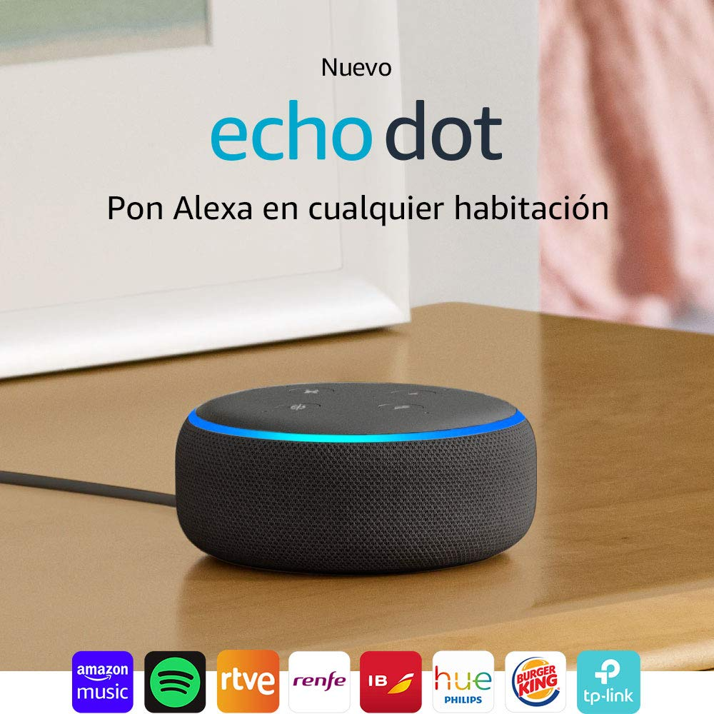 Echo Dot (3.ª generación) - Altavoz inteligente con Alexa, tela de color antracita: Amazon.es