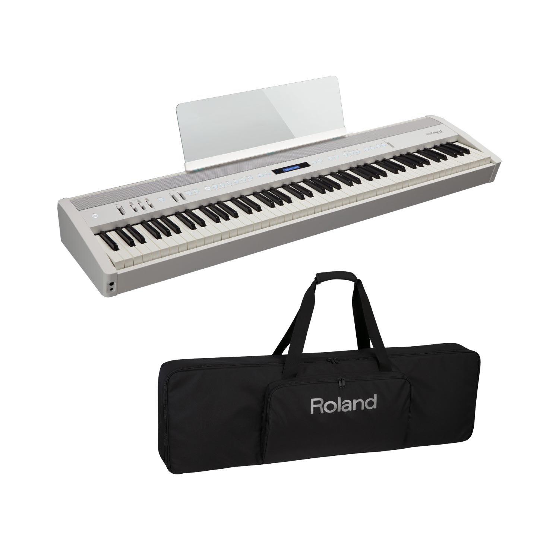 ROLAND FP-60 WH Digital Piano 電子ピアノ キーボードケース付き 2点セット   B07F8L5WM7