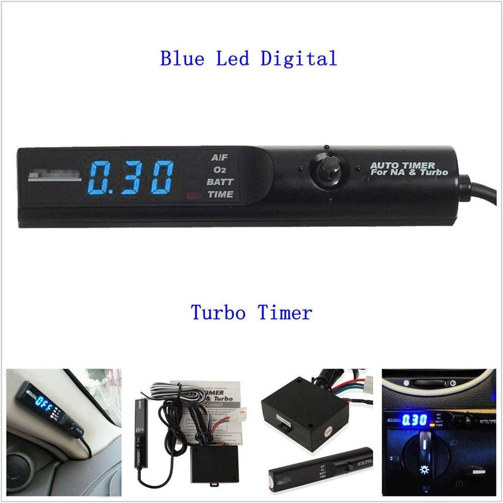 BAAQII Turbo Timer Universal del Coche para la Pantalla Unidad Na y Negro Control de Pluma Azul LED: Amazon.es: Coche y moto