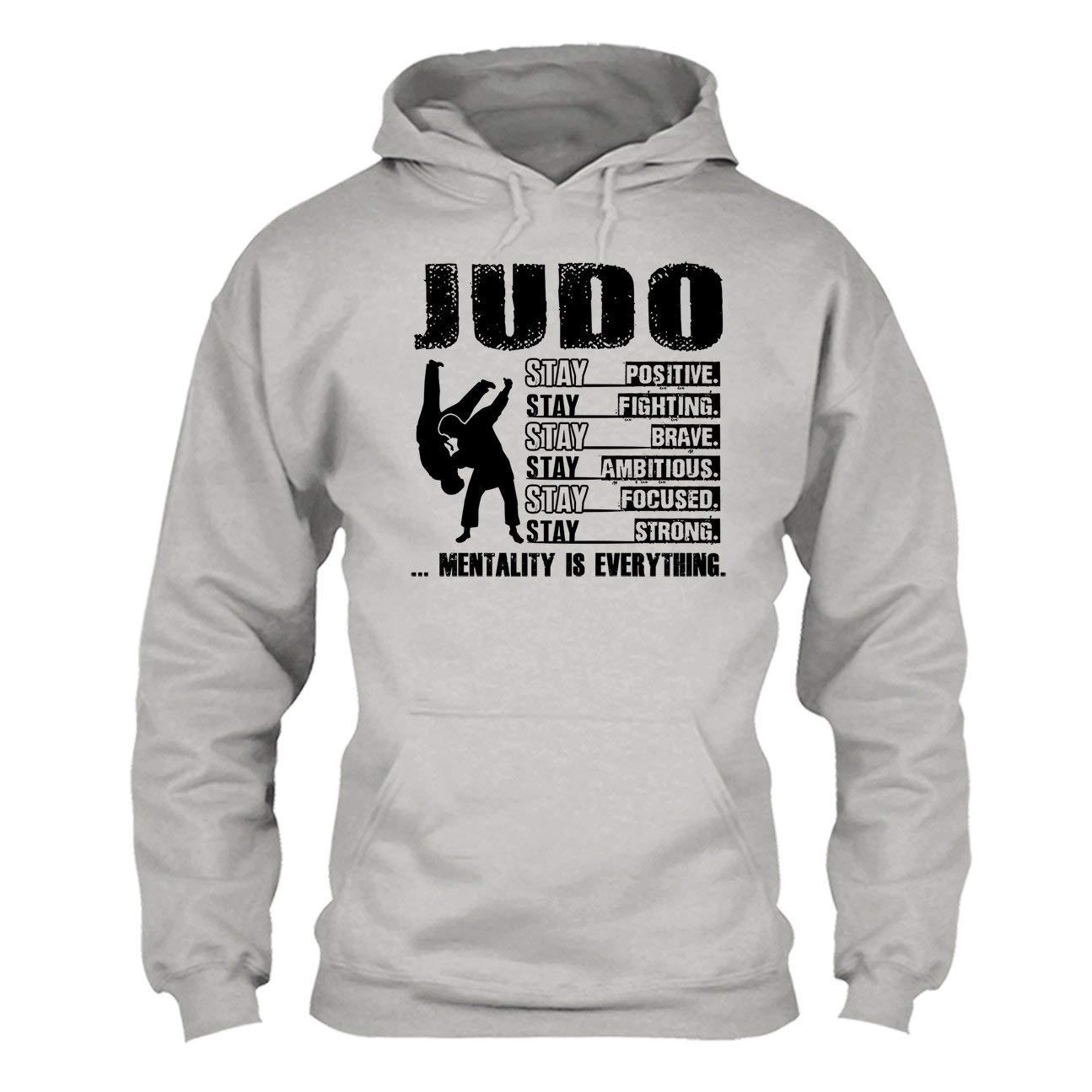 LookPink Judo Stay Positive Fighting Brave Tee Shirt Long Sleeve Shirt