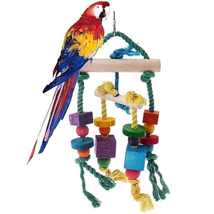 Ogquaton Bloques de Madera para pájaros, Accesorios para Colgar ...