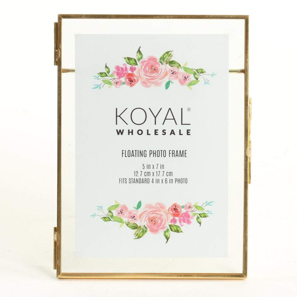 Koyal Wholesale Pressed Glass Floating Photo Frames 8-Pack with ...