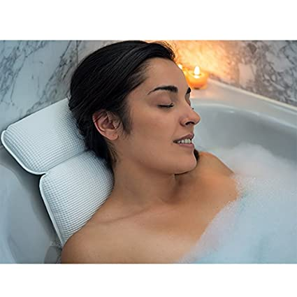 Amazon.com: Almohada de baño de spa para la cabeza y el ...