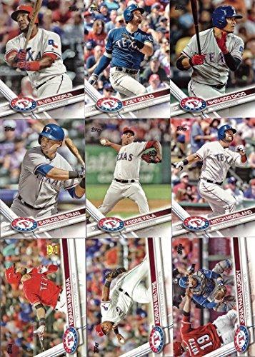 Galleon 2017 Topps Series 1 Texas Rangers Baseball Card