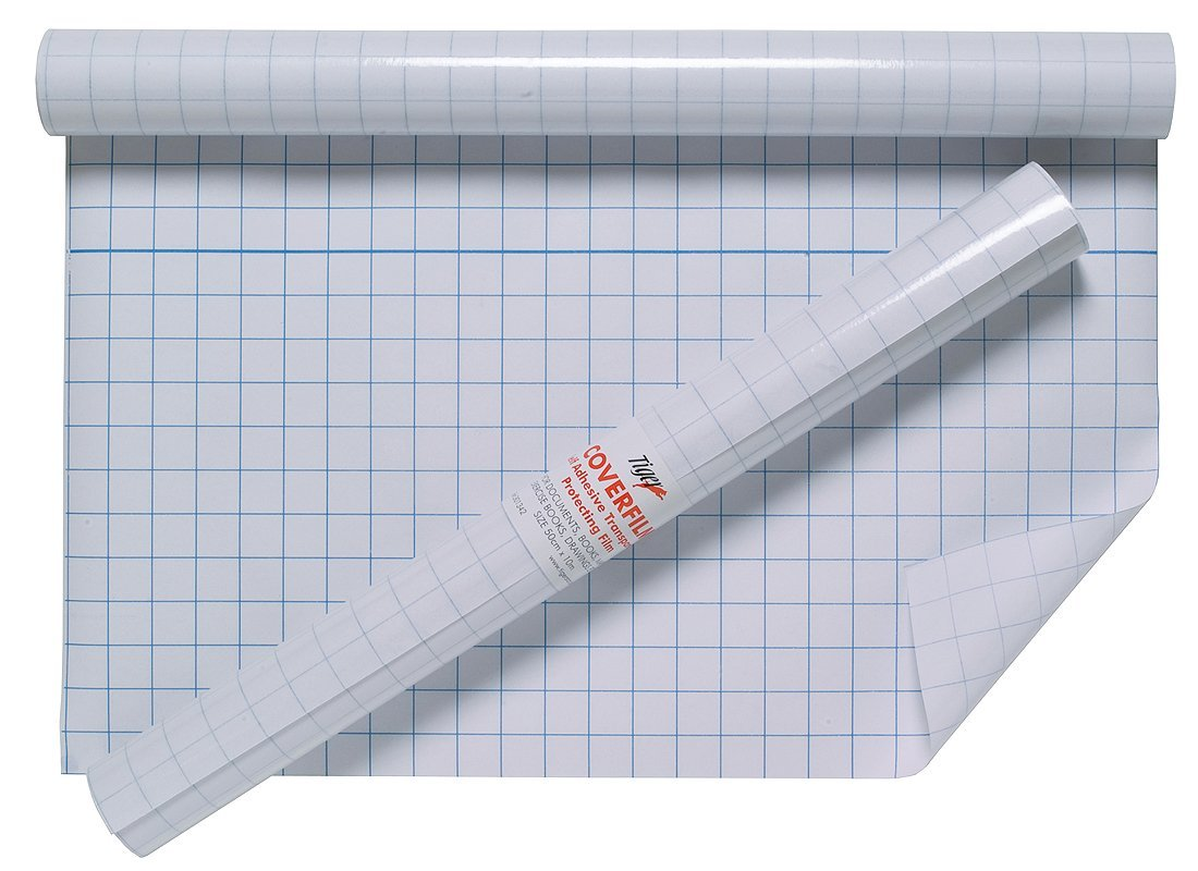 Tiger 50 cm x 10 m copertina di qualità, rotolo adesivo in plastica trasparente. Tiger Stationery 301342