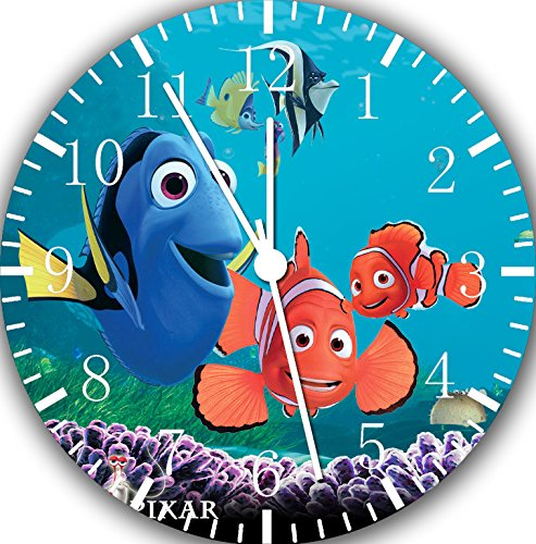 Disney Finding Dory Nemo Borderless Frameless Wall Clock E327 Nice For Decor Or Gifts