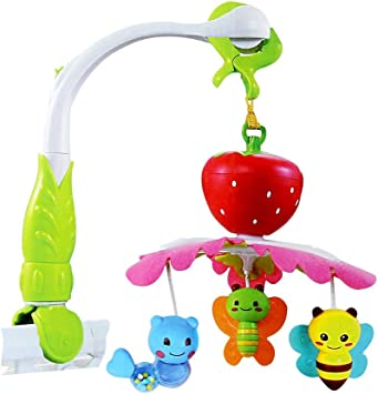 Fusine Baby Crib Music Bell/Rattle Toy for Toddlers