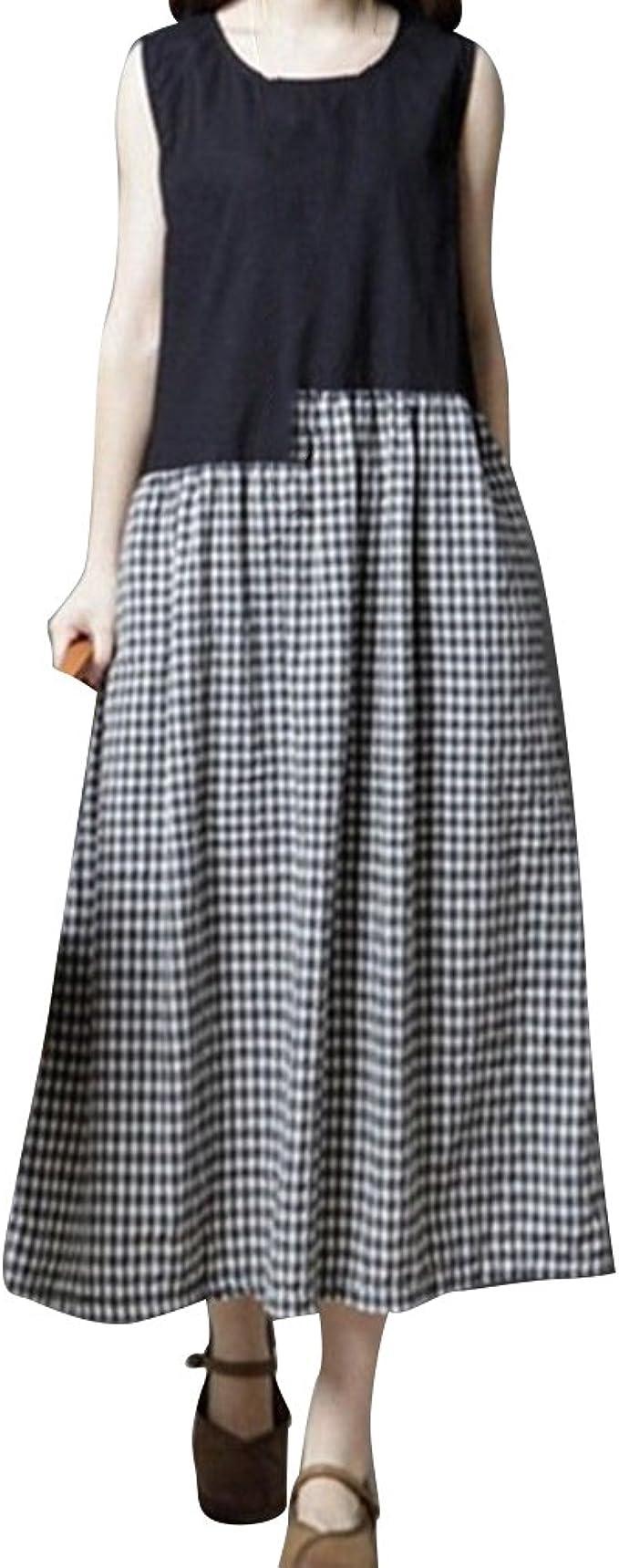 Vestidos para Mujer Ocio Suelto Vestidos Estilo Literario Falda de ...