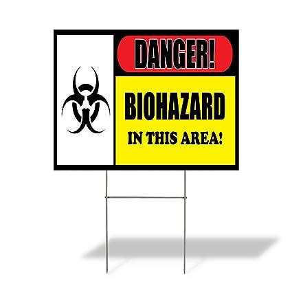 Amazon.com: Cartel de destino peligro. Biohazard al aire ...