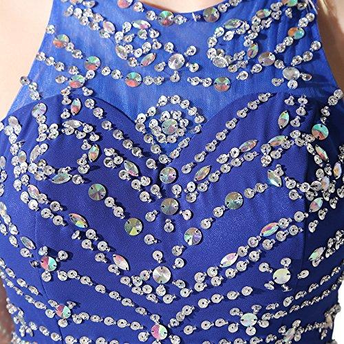 Geblümt Damen Brautkleid Blau Engerla A Linie 0Igww4q