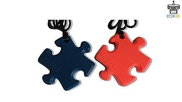 Chew Pendant Puzel Pack of 2 Training and Development Fidget Toy Chew Necklace