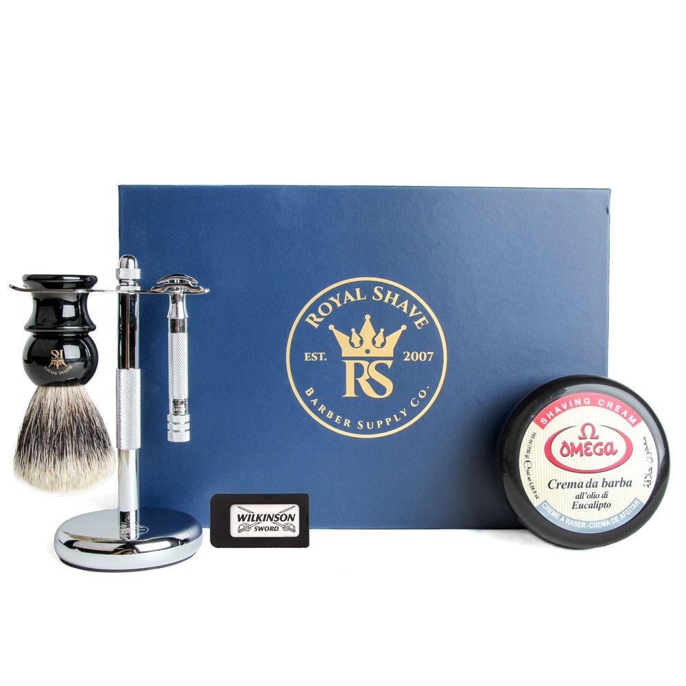 Merkur 33c Safety Razor 5 Piece Wet Shave Set Classic Shaving Kit RoyalShave