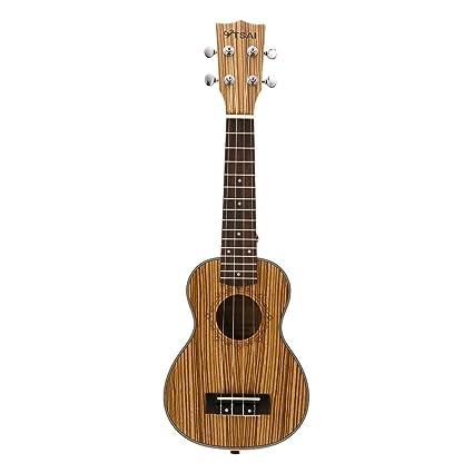 Ukelele de cebra, 4 cuerdas de madera de palisandro, tamaño pequeño, para guitarra