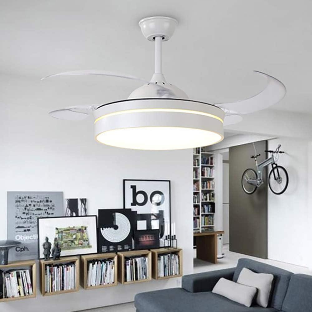 Ventilador de techo, 107 cm con luces LED y mando a distancia, luz ...