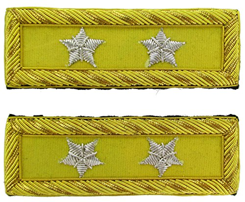 MAJOR GENERAL Reproduction CAVALRY Officer Civil War Shoulder Board Rank for Reenactors