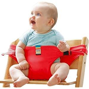 Portable Chaise Harnais & # Xff0 C ; réglable Portable Voyage Chaise haute/ceinture, chaise de bébé Harnais de sécurité Sangle pour assise/alimentation